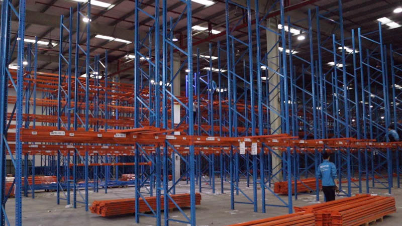 Engineering Installation Site For Industrial Warehouse Shelving
