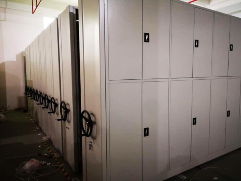 Hand-moving Mobile High Density Storage Cabinets